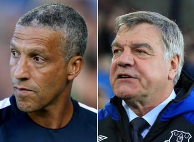 Chris Hughton and Sam Allardyce.