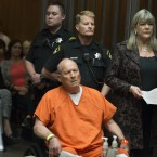 Joseph James Deangelo, the suspected East Area Rapist and Golden State Killer in a Sacramento courtroom in April. <span class=