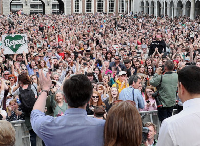 Scenes at Dublin Castle in May