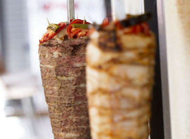 One restaurant was storing kebab meat at room temperature.