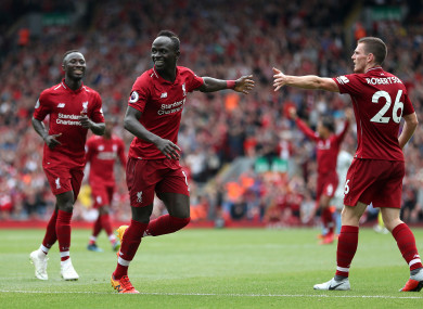 Mane scored 20 goals for Liverpool last season.