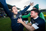 Louis Mulqueen and Conor Kavanagh celebrate last year's victory for Liam Mellows.