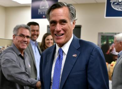 Republican Utah Senator Mitt Romney.