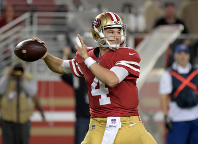 hot sale online bf5cc 5973d Dream debut for undrafted quarterback Mullens as 49ers ...