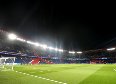 A general view of the Parc des Princes, where PSG play their home matches.