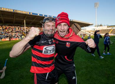 Philip Mahony celebrates Ballygunner's Munster final victory.