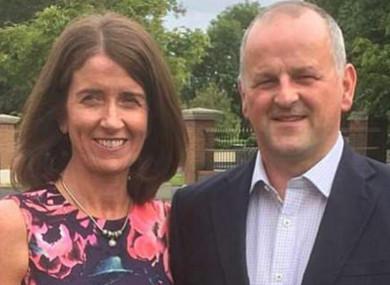 Sean Cox alongside his wife Martina.