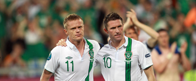 Ireland's Robbie Keane and Damien Duff represented Ireland together on numerous occasions.