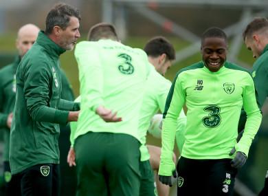 Obafemi during Ireland training this week.
