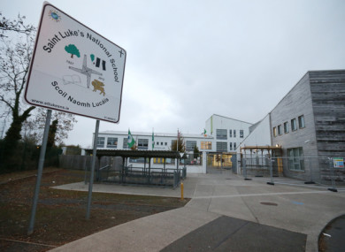 The exterior of St Lukes National School in Dublin which has been closed due to safety concerns.