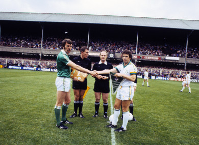 The teams played out a scoreless draw at Lansdowne Road in September 1978.