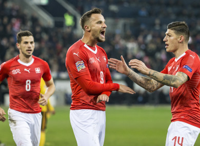 Seferovic: goals sparked Swiss comeback.