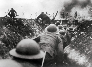 The Somme during World War One