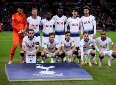The Tottenham team line out (file pic).
