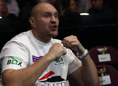 Tyson Fury: takes on Wilder in Los Angeles.