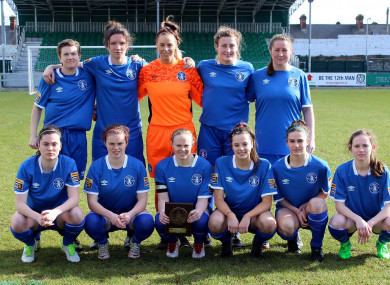 Limerick pictured before their first ever Women's National League game, a 4-0 victory against Kilkenny in March.