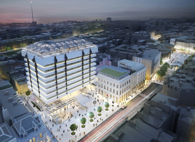 The former Central Bank HQ is to be transformed into a hotel and mixed-used offices.
