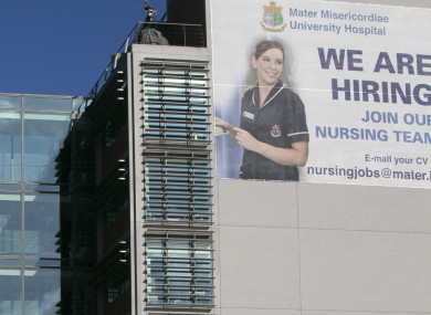 A 2016 recruitment campaign at the Mater Hospital.