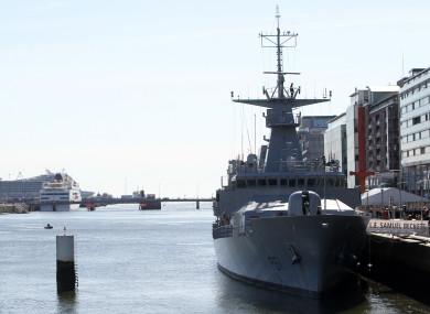 File. The LÉ Samuel Beckett docked in Dublin
