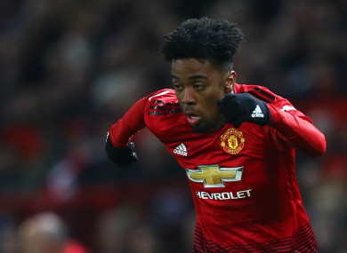 Angel Gomes (file pic).