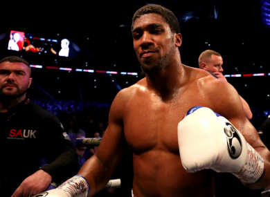 Heavyweight champion Anthony Joshua