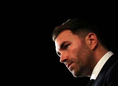 Eddie Hearn believes that if no belts were on the line, Anthony Joshua would most like to fight Tyson Fury next.