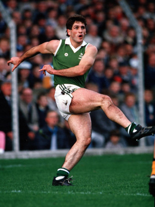 Dermot McNicholl playing for Ireland against Australia in the 1987 International Rules series.