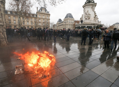 Riot police in Paris had their hands full with a school demonstration today.