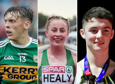 David Clifford, Sarah Healy and Rhys McClenaghan are nominated for Young Sportsperson.