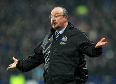 Spanish coach Rafael Benitez.