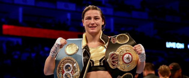 Unified lightweight World champion Katie Taylor.