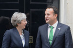 Theresa May and Leo Varadkar pictured in London in September 2017.