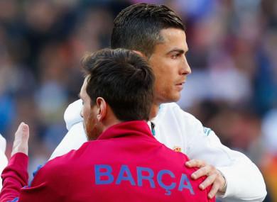 Lionel Messi and Cristiano Ronaldo.