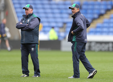 London Irish director of rugby Kidney and head coach Kiss.