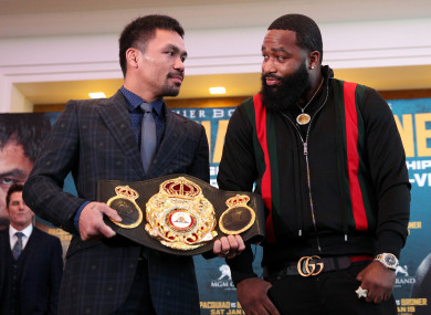Manny Pacquiao's clash with Adrien Broner on 19 January could wind up on ITV as the latter is signed to Al Haymon and Premier Boxing champions.