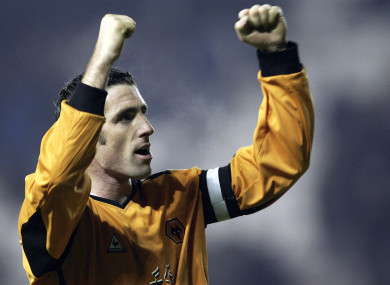Kennedy celebrating on duty with Wolves in 2005.
