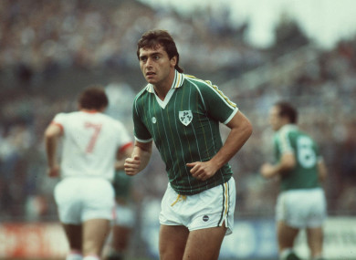 Robinson playing for Ireland in 1984.