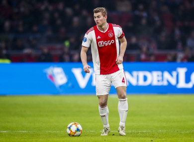 De Ligt has followed in the footsteps of Kylian Mbappe and Leo Messi.