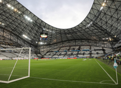There'll be no action at the Stade Velodrome this weekend.