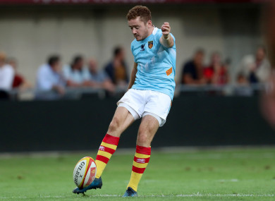 Paddy Jackson was not in action in last weekend's tie in the Sportsground.
