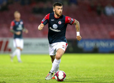 McClean in action for Sligo Rovers against Cork City in August.