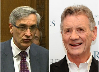 MP John Redwood (left) and Monty Python star Michael Palin will have