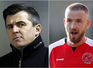 Paddy Madden (right) has been scoring regularly at Fleetwood, who are managed by Joey Barton (left).