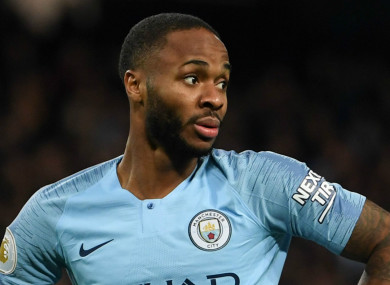 Man City star Raheem Sterling.