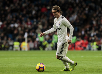 Luka Modric has impressed for Real Madrid and Croatia this year.
