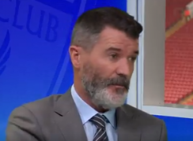 Roy Keane pictured in the Sky Sports studio today.