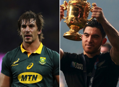 Eben Etzebeth and Nehe Milner-Skudder.