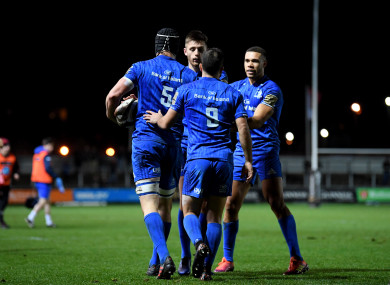 Leinster celebrate after another clinical PRO14 performance.