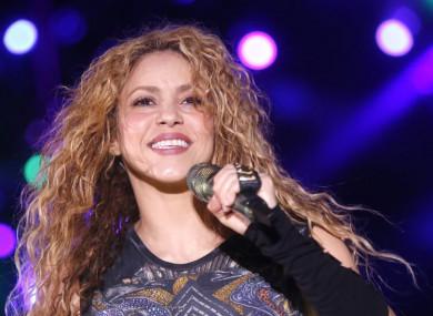 Shakira performing at Cedars International Festival in Ariz, Lebanon, on 13 July 2018.