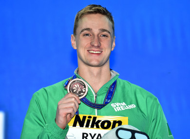 Ryan with his medal.